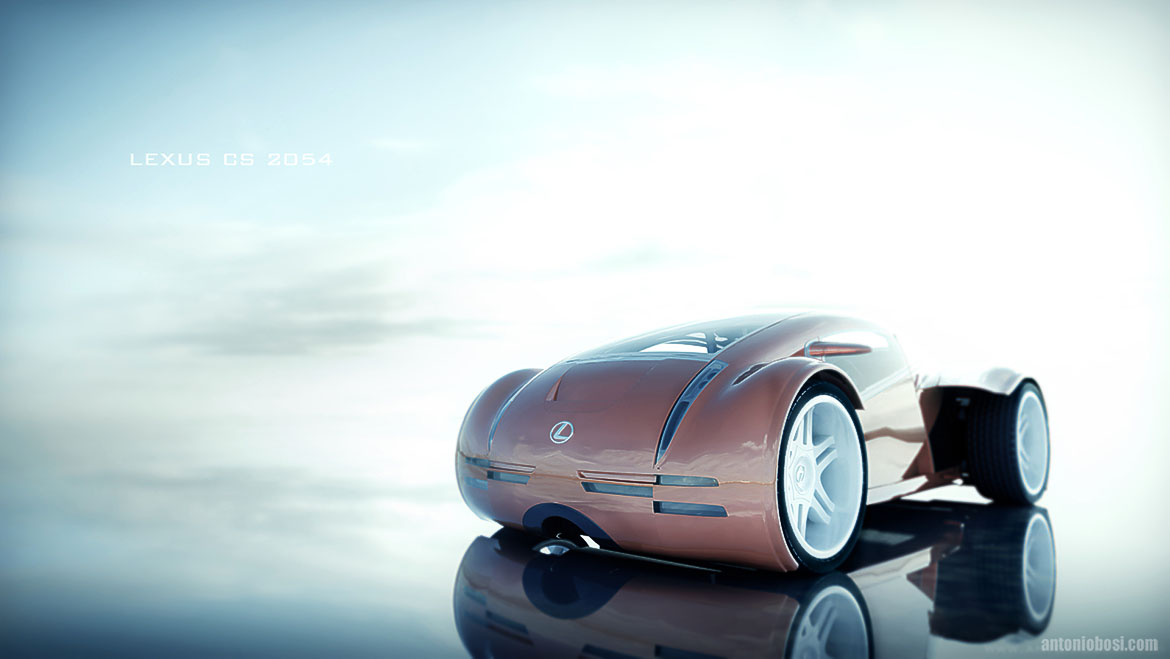 Car Mental Ray Render lexus CS2054 in Maya and Mental Ray