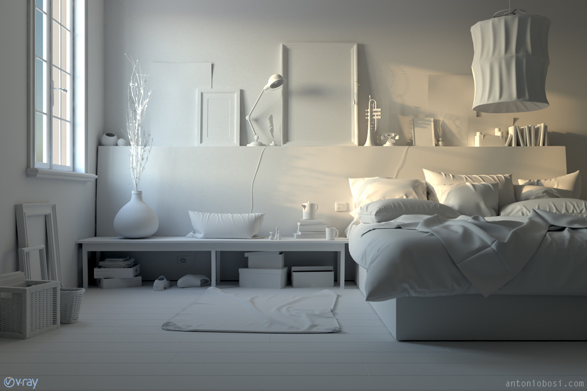 Idea Bedroom Vray Vs Corona Interior Render Comparison Test And Speed