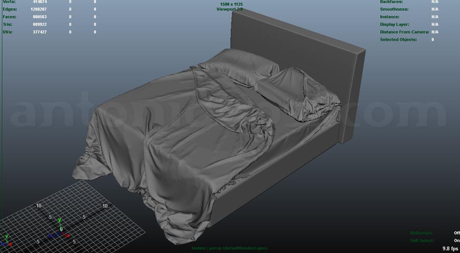 create bed in maya tutorial