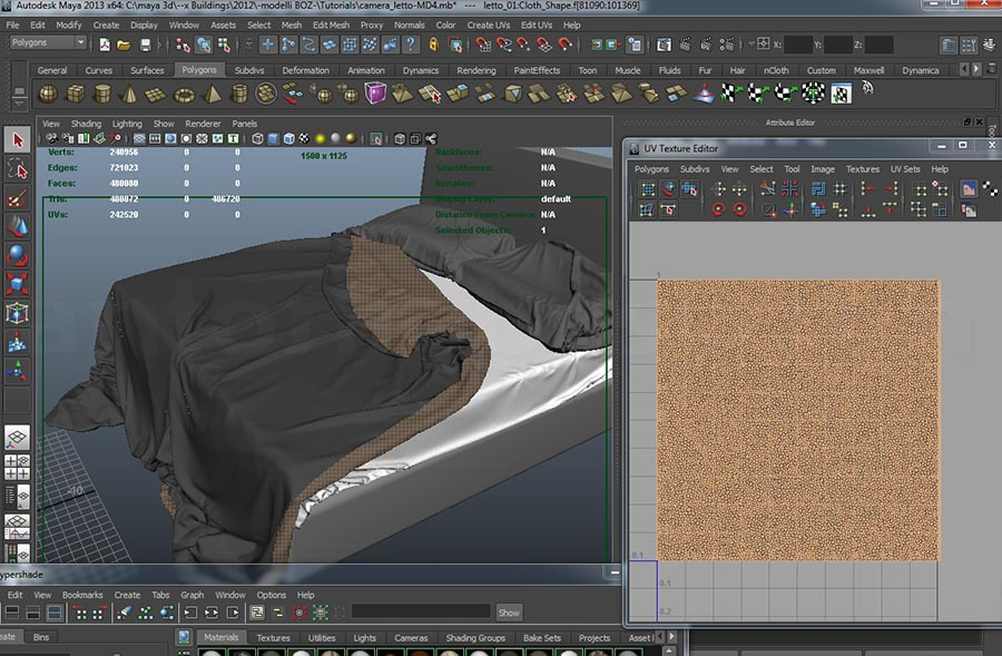 maya bed tutorial uv shells