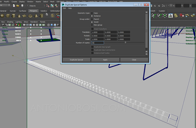 make carpet in maya tutorial: create carpet patch row