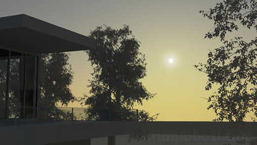 Mental Ray for Maya physical sun disk scale for exterior rendering