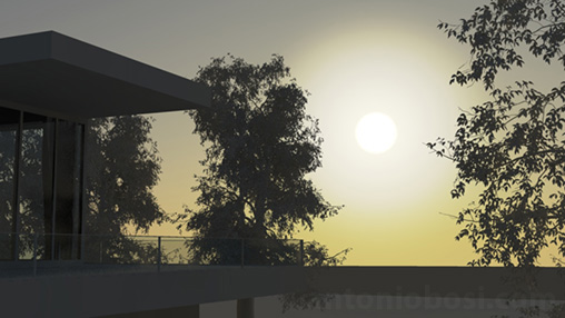 Mental Ray for Maya physical sun disk glow (bigger) for exterior rendering