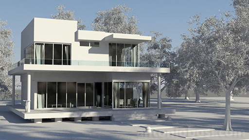 Mental Ray exterior render tone mapper on