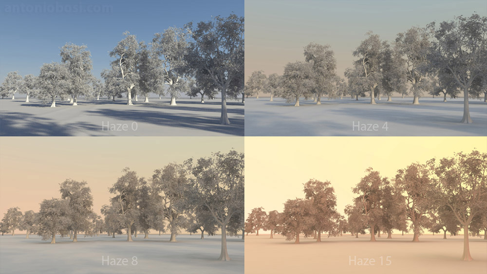 Mental Ray for Maya physical sky haze for exterior renders