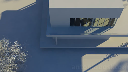 Mental Ray for Maya physical sky saturation attribute for exterior renders