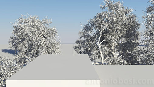Mental Ray for Maya physical sky horizon height (less) attribute for exterior renders