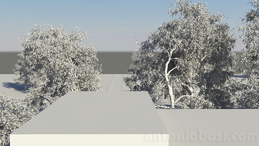 Mental Ray for Maya physical sky horizon height attribute for exterior renders