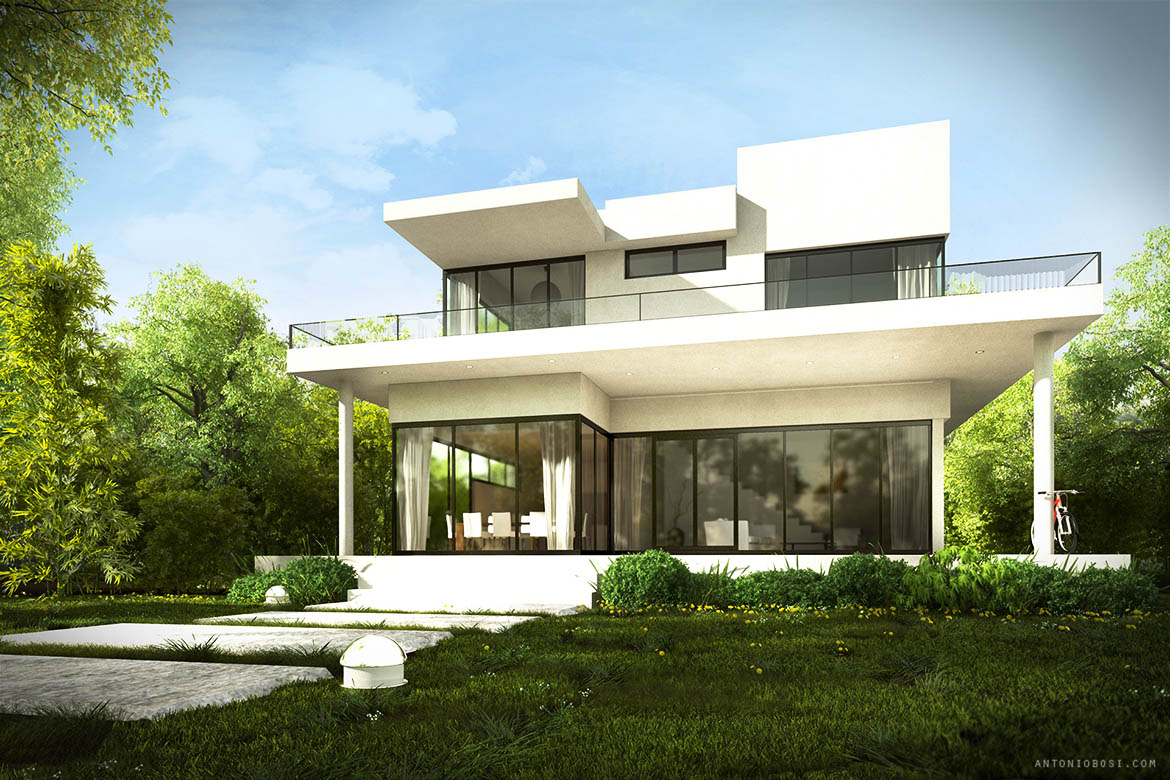 modern house exterior render in maya and mental ray antonio bosi 3d render maya mental ray