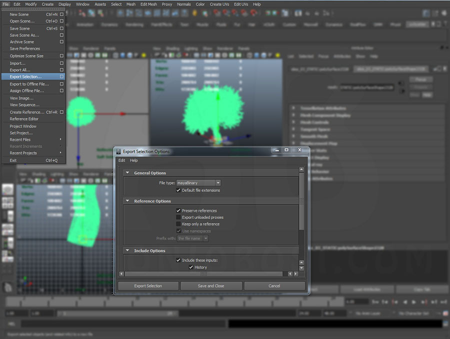 export proxies in maya