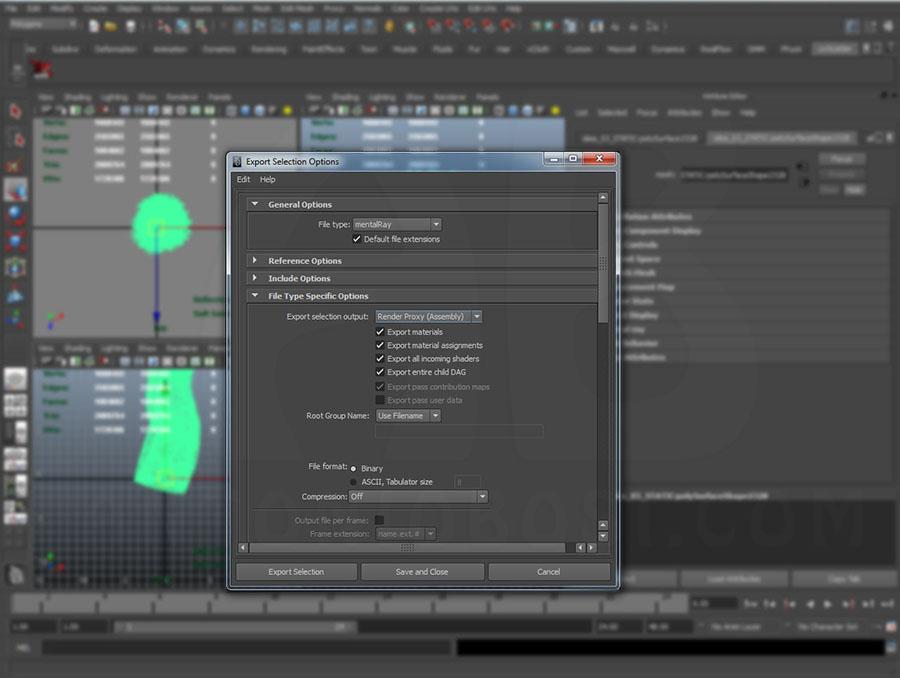 Maya Mental Ray Proxies tutorial (exterior render tutorial)
