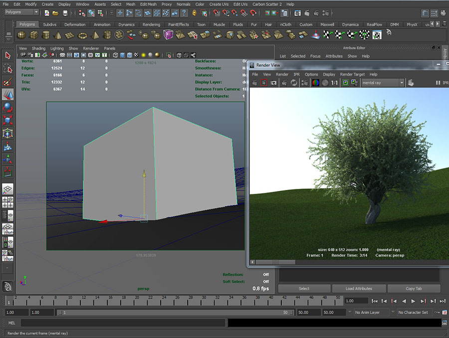 render mental ray proxies in maya
